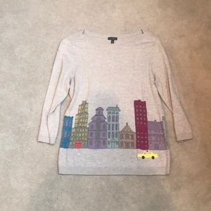 Talbots City Scene Sweater